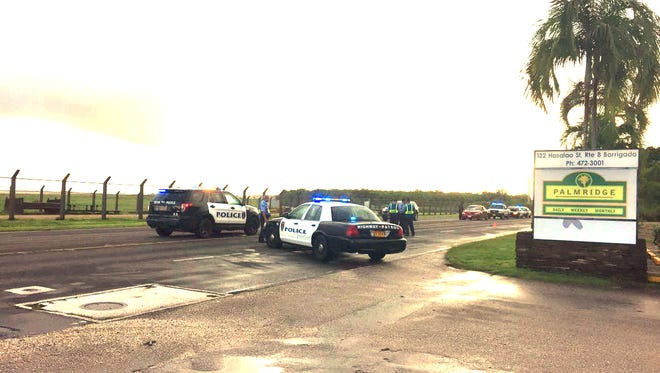 Police were on the scene of an auto-pedestrian accident this morning.