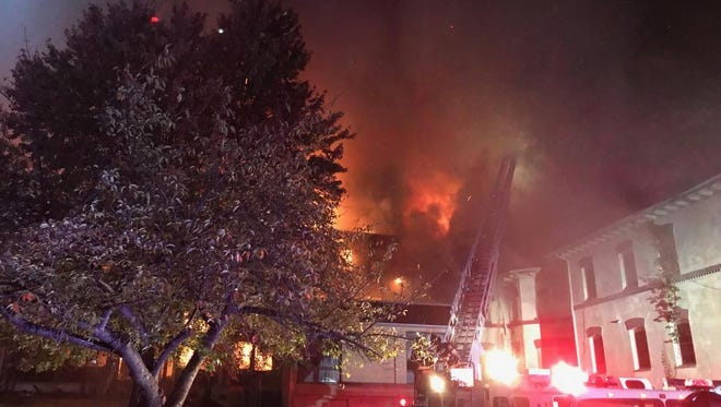 An early-morning fire Tuesday heavily damaged the vacant Villa Maria facility in North Plainfield.