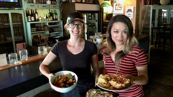 Layla Calzoni, left, and co-owner Charmaine Yu at the Sweetspot in east Redding.