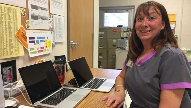 Cheryl Mattern works as a school nurse at Hayshire Elementary. She is also a member of the federal Medical Disaster Assistance Team and as such, she recently spent more than a month working in Puerto Rico after Hurricane Maria.