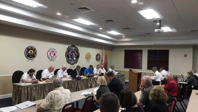 Greater Naples Fire Rescue District commissioners during Tuesday's meeting at the district's headquarters voted to approve a settlement agreement with a former fire district officer who filed a sexual harassment suit in federal court against the department and its chief last year.