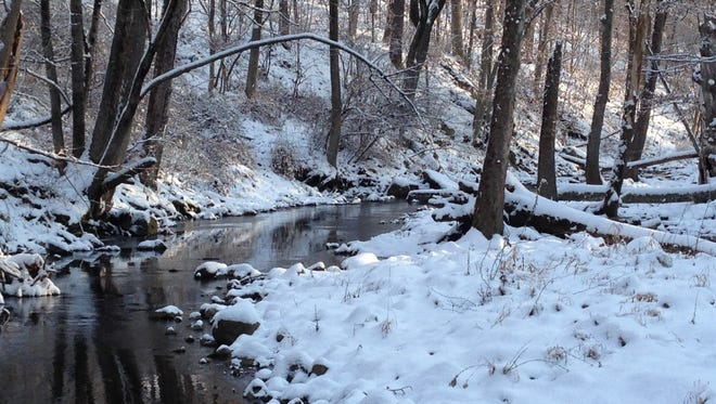In Lebanon Township, 10 acres including a half-mile of trout stream that feeds into the Spruce Run Resevoir.