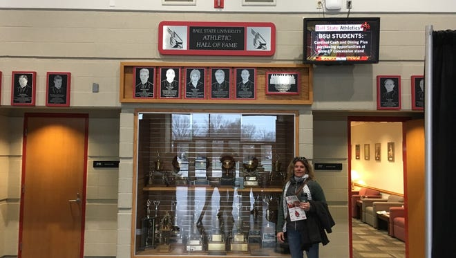 Richmond graduate and former volleyball coach Anne Wissel was inducted into the Ball State University Hall of Fame as a member of the 1994 volleyball team.