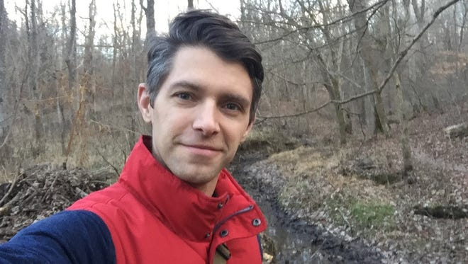 Actor Ryan Devlin takes a hike in Creasey Mahan Nature Preserve in Goshen, Kentucky