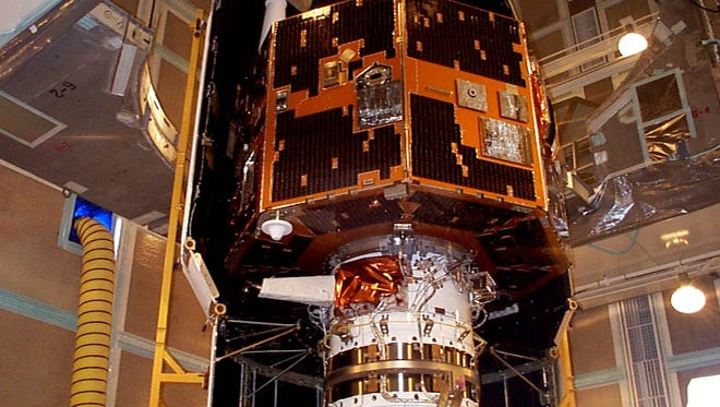 The IMAGE satellite before it launched in 2000. An amateur astronomer recently discovered the spacecraft thought to have been lost since 2005.