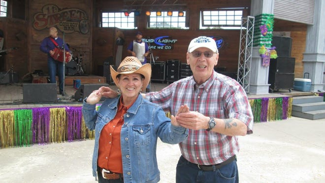 Lester Lange, right, and Kay Wright dance to Rusty Metoyer and Zydeco Krush at the 11th Street Cowboy Bar in Bandera, TX.
