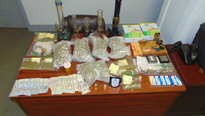 Items gathered following a two-month drug investigation in Georgetown.