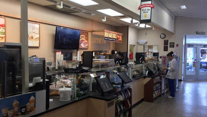 The food prep station at the 1450 Forrest Avenue Wawa.