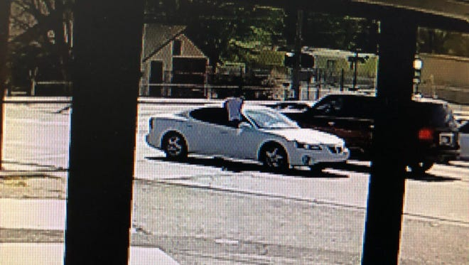Bloomfield police believe Jordan Ortega is the male in the security video sticking out of the white Pontiac car who allegedly fired two shots from a handgun at a Honda Accord on April 7 at the intersection of Blanco Boulevard and First Street in Bloomfield.