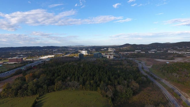 A view of the 22-acre lot purchased for $20 million by Franklin developers.