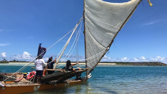 Chamoru sailing group Traditions Affirming our Seafaring Ancestry (TASA) sailed off on their second open sea voyage to Rota and Saipan on May 13, 2018.