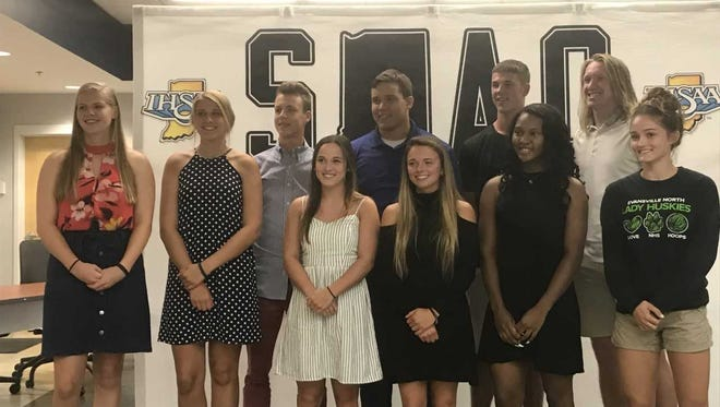 Members of the 2018 class for the SIAC Outstanding Athlete of the Year award.