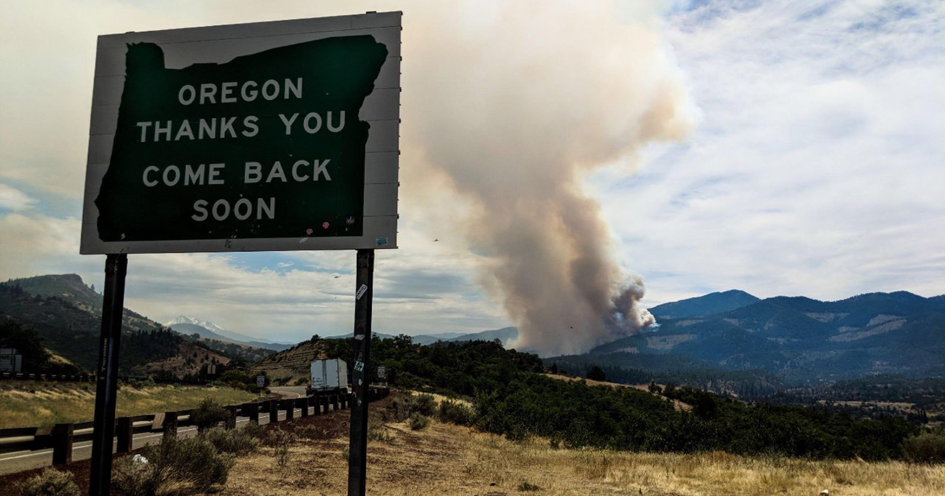 Update Klamathon Fire Now 22 000 Acres But Slowing Down In Oregon