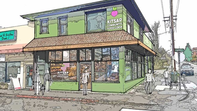 A rendering of the Kitsap Community Food Co-op, a grocery cooperative with a vision similar to that of the Silverton Food Co-op. (File Image: Courtesy of the Kitsap Community Food Co-op)