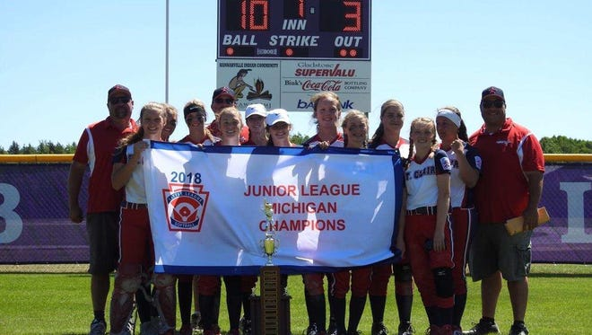 The St. Clair 14-and-under softball team recently won a state championship.
