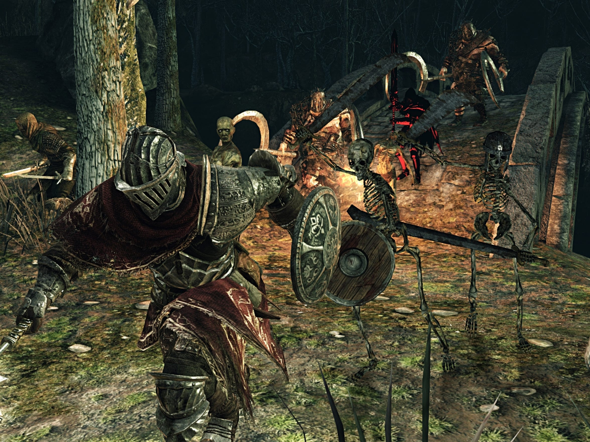 "Tough challenges await players once again in the action adventure game, ""Dark Souls 2: Scholar of the First Sin."""