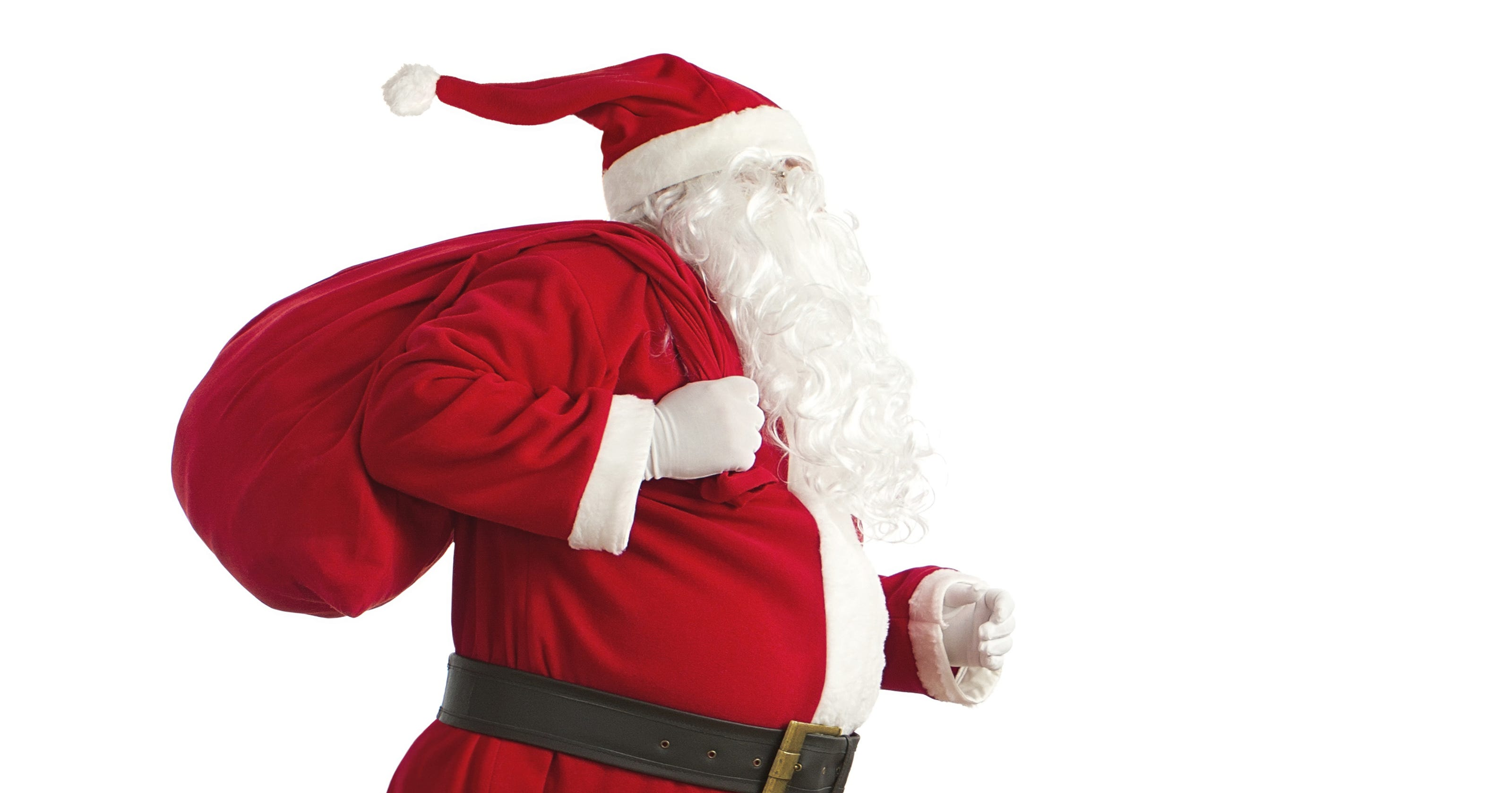 Santa Claus arrives at Crossroads Center on Friday