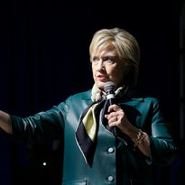Democratic presidential candidate Hillary Rodham Clinton speaks during a community forum, Tuesday, Oct. 6, 2015, in Davenport.