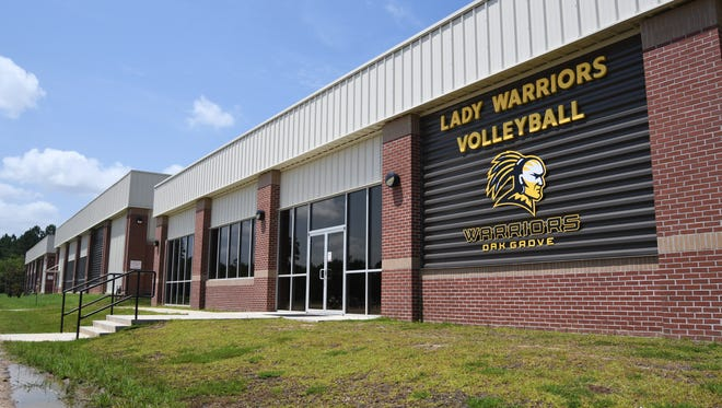 Oak Grove High School's volleyball facility was built two years ago.