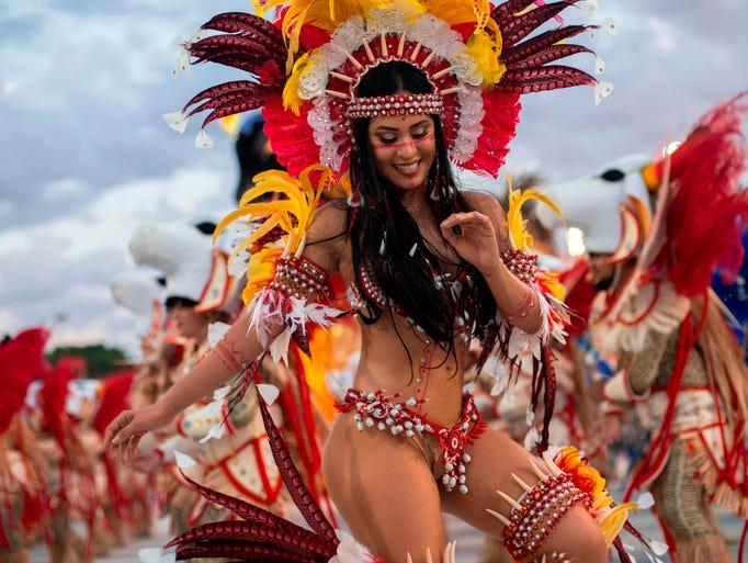 Sambadrome dancers nude