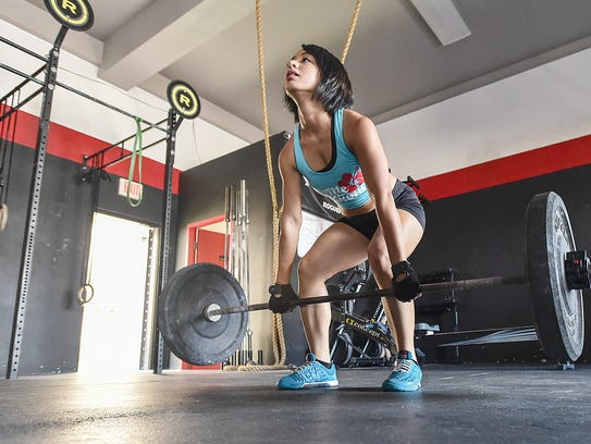 Keomi Pangelinan at CrossFit Latte Stone in Tamuning