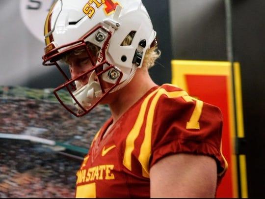 Iowa State freshman Blake Peterson during a visit to Iowa State.
