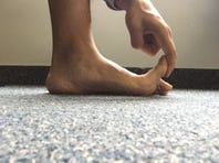 Check your great toe mobility in weight bearing to see if you have adequate range of motion.