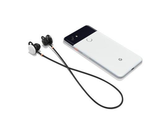 Google's new Pixel Buds and Pixel 2 smartphone.