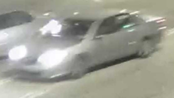 Police released this image of two vehicles involved in a car-to-car shooting on the night of Sunday, May 6, 2018 near Crosstown Concourse. Gunshots were fired from the vehicle on the right of the image into the vehicle on the left of the image.