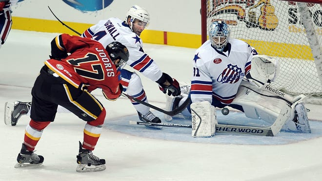 Nathan Lieuwen, shown here during a November game with the Amerks, says he is fully recovered from concussion issues and is ready to earn top-flight playing time.