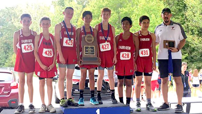 The Fairview Middle School Boys Cross Country Team won the State Championship for the second year in a row on October 7, 2017.