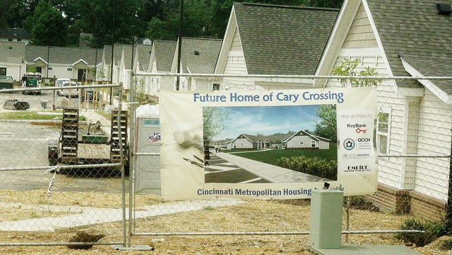Workers are pushing to finish work on the apartments at Cary Crossing, a Cincinnati Metropolitan Housing Project for residents with disabilities. CMHA officials say tenants will start moving in this month.