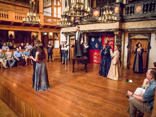 """The cast of """"The Life of King Henry the Fifth"""" 2015/16"""