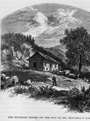 Travelers had a steep climb to get to the Mountain House, from which an early morning start was necessary to see the sun rise from the top of Mount Mitchell.
