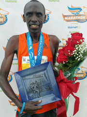 Stanley Boen, winner of the KDF Marathon men's division with a time of 2 hours and 26 minutes.