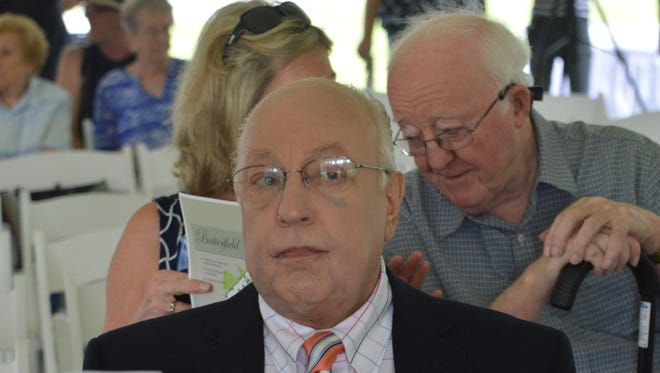 Roger Ailes at the July 8, 2015, groundbreaking of the Roger Ailes Senior Center.