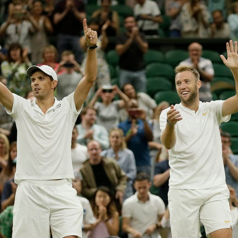 Mike Bryan, with Jack Sock, wins Wimbledon title for record-tying 17th Grand Slam title