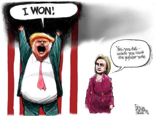 Trump won! Except ...