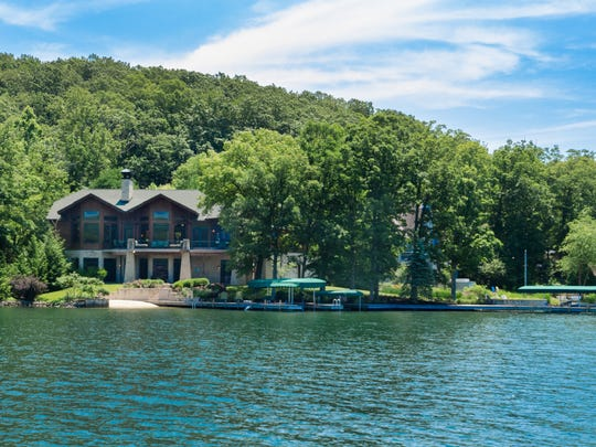 A view of 10651 W Grandview Drive from the lake.