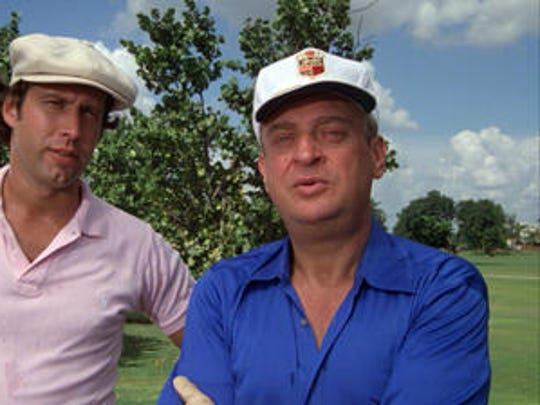 """Chevy Chase and Rodney Dangerfield in a scene from the 1980 comedy """"Caddyshack."""""""