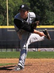 Plymouth junior Josh Sulak was the starting pitcher