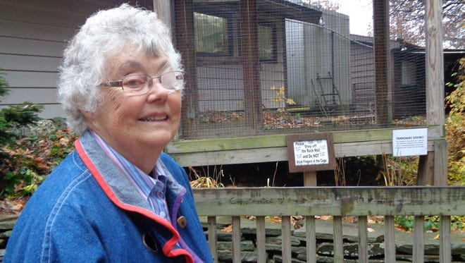 Agnes Hartigan has volunteered at the Binghamton Zoo at Ross Park for 23 years. The work has been rewarding and fun and way to give back to the community, the retired teacher said.