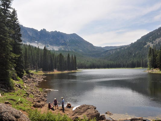 Strawberry Lake with Eugene hikers at 2014 Obsidian outing