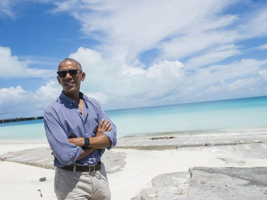 Obama On Historic Midway Island Touts His Conservation