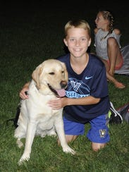 "Will and his dog ""Duffy"" at  the Movies Under the Stars"