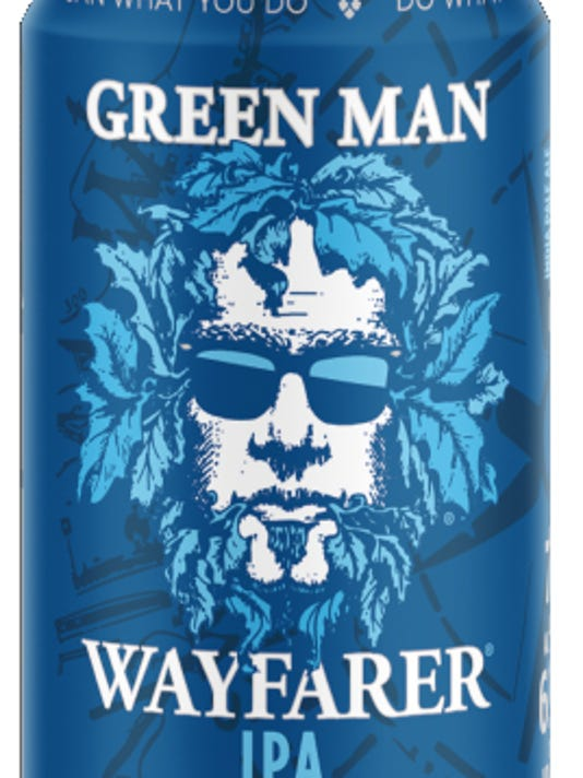 Green Man adding cans