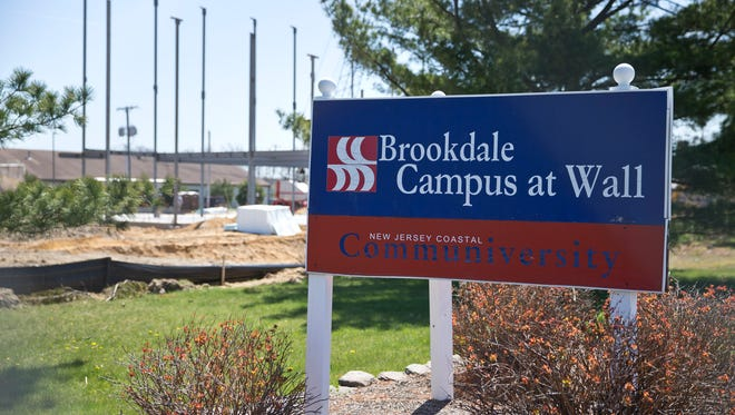 Construction crews work on the new Brookdale Campus at Wall facility on Monmouth Boulevard.