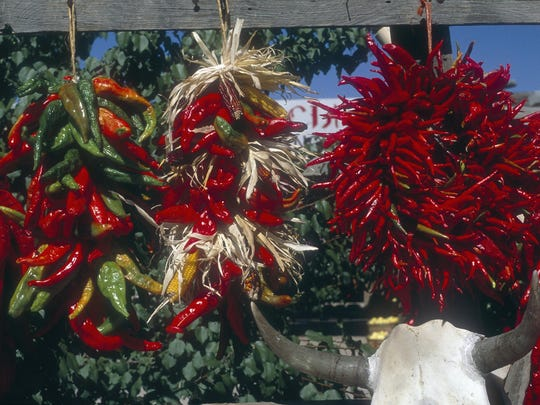Chiles are celebrated in both art and cuisine in Santa Fe.
