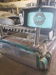 A mobile cider dispenser was made from the cab of a