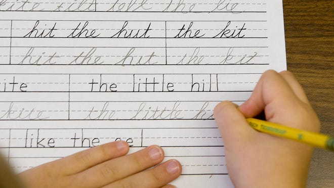 The Ohio Senate advanced a bill to create optional handwriting instruction materials. Ohio and other states scaled back cursive writing lessons in recent years.